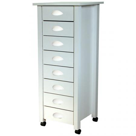 8-Drawer Mobile Cartwhite