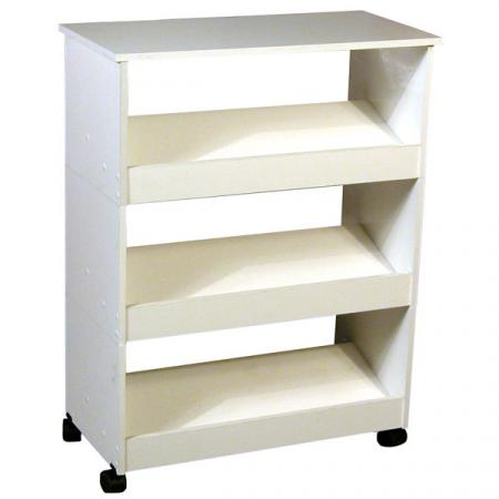 Shoe Racks-3 with Top & Casters white