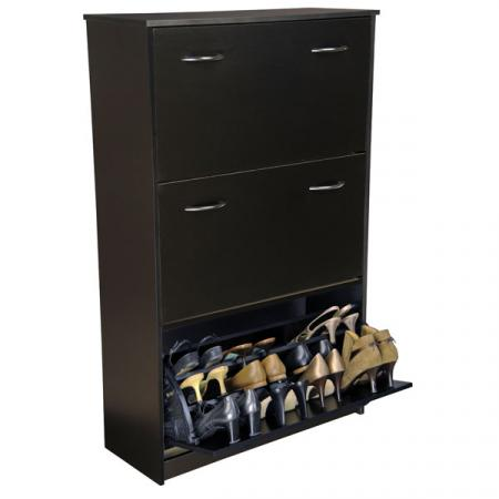 Triple Shoe Cabinet black