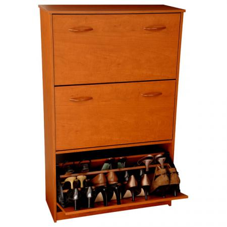 Triple Shoe Cabinet  cherry