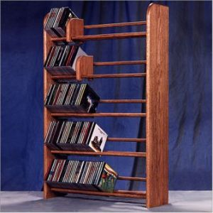 Media Storage Made Of Solid Wood Available In A Large