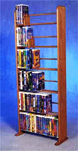 Disney VHS dowel storage rack, capacity 126 Jumbo VHS tapes