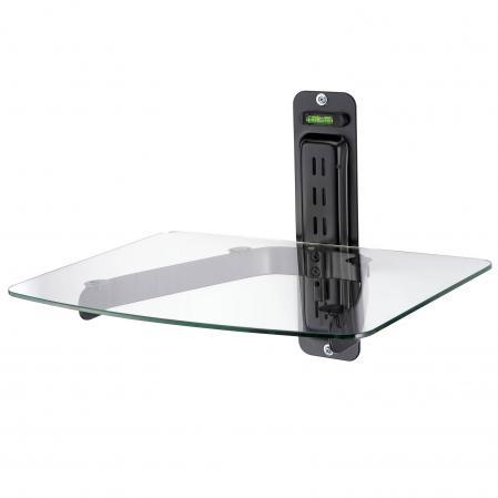 Single DVD Clear Shelf For Flat Screen TV