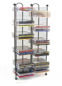 Nestable 100 Cd Tower, Gunmetal Color W/ Metal Balls