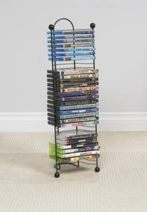 Nestable 32 DVD Or Bluray Tower In Gunmetal