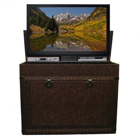 Elevate Vintage Trunk TV Lift Cabinet