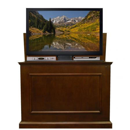 Elevate Espresso TV Lift Cabinet