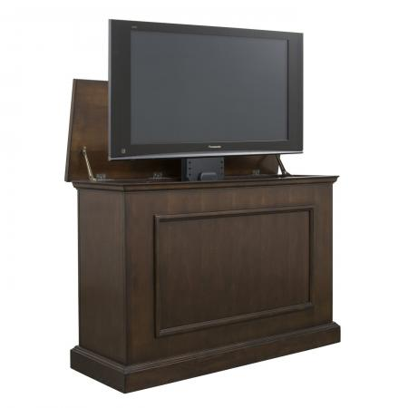 Mini Elevate Espresso TV Lift Cabinet for 46