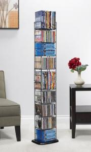 Media Folding Tower 153 Cds Or 72 DVDs And Bluray In Black