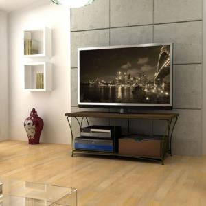 Nuvo 2-Tier Flat TV And Audio/Video Component Stand