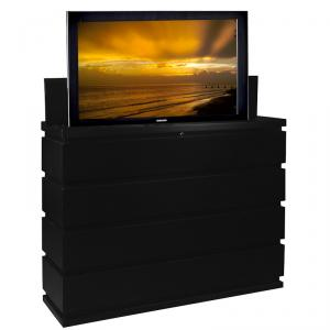 Prism Black TV Lift Cabinet