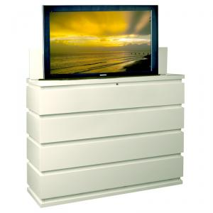 Prism White TV Lift Cabinet