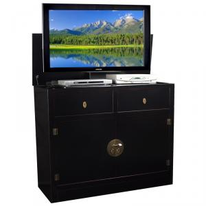 Hideaway Black Or Brown TV Lift Cabinet