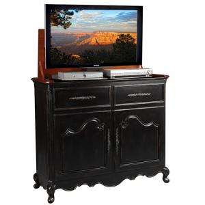 Belle Black TV Lift Cabinet