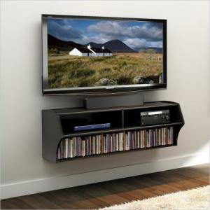 Black Wall Mounted Audio/Video Console
