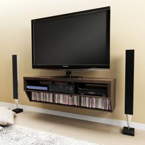 Espresso 58 Wide Wall Mounted AV Console