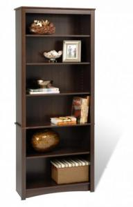 Espresso 6-shelf Bookcase