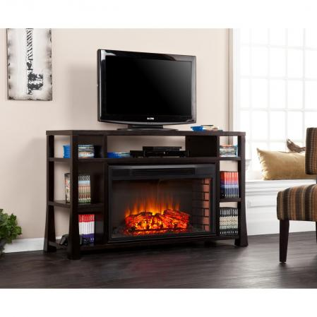 Stockton Media Electric Fireplace - Ebony Stain