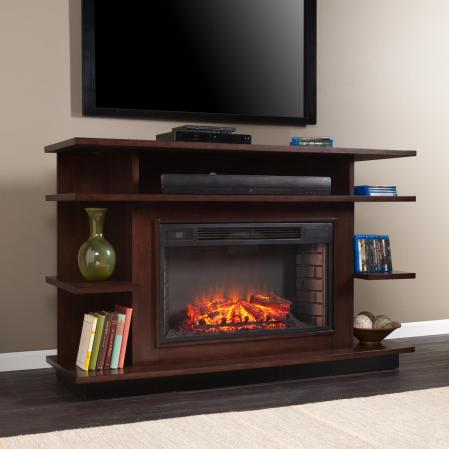 Granville Media Electric Fireplace - Espresso/Ebony Stain