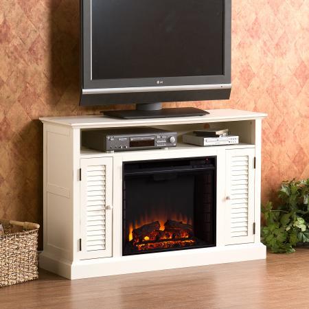 Antebellum Media Electric Fireplace - Antique White