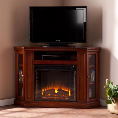 Holly & Martin� Ponoma Convertible Media Electric Fireplace-Mahogany