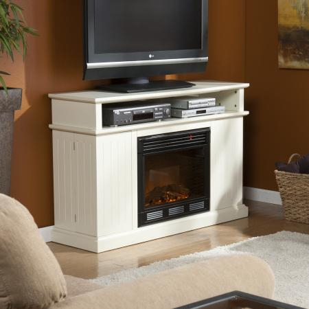 Holly & Martin� Fenton Media Electric Fireplace-Ivory