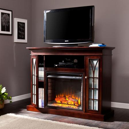 SOLD Yorklyn Media Electric Fireplace - Espresso