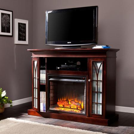 SOLD Yorklyn Media Electric Fireplace - Espresso