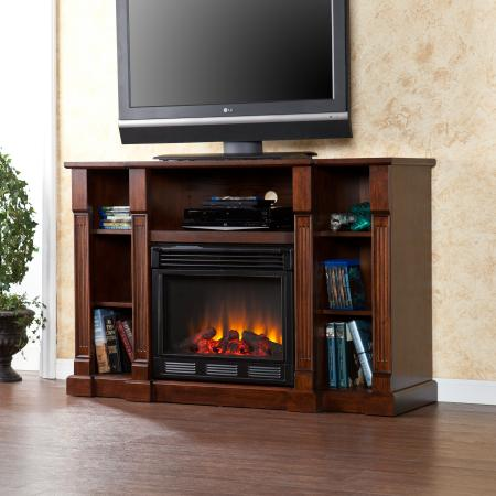 Kendall Electric Media Fireplace - Espresso