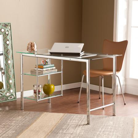Oslo Chrome/Glass Desk