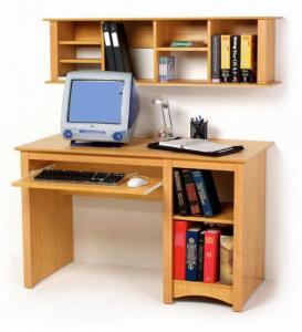 SOLD Maple Wall Mounted Desk Hutch