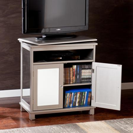 SOLD Mirage Swivel-Top Media Stand