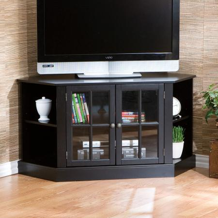 SOLD Thomas Corner Media Stand - Black