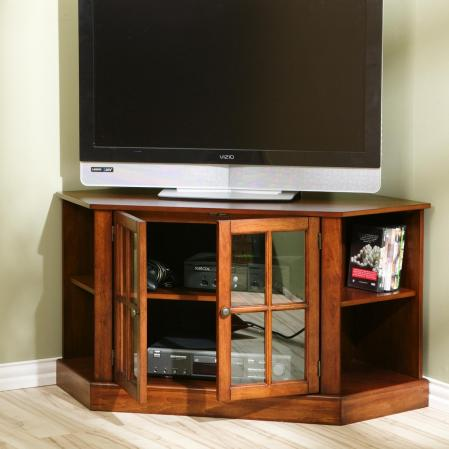 Thomas Corner TV/Media Stand; Ta-02 Walnut