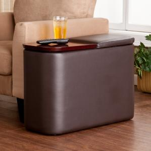 SOLD Entertainment Companion Table - Cafe Brown