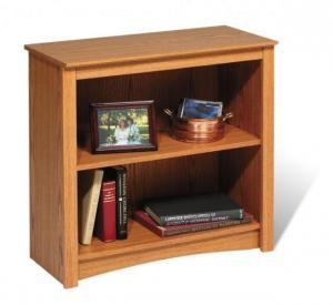 Oak 2-shelf Bookcase