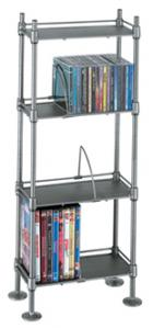 4-Tier Adjustable Multimedia Shelving