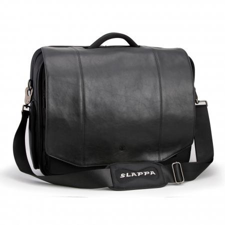 Ricco Executive Black faux Leather 18-Inch Laptop Shoulder Bag