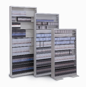 10 Shelves DVD Storage With Backstops And Standard Shelving