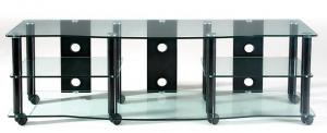 70-inch Flat panel TV Stand with 5 AV Component Shelves
