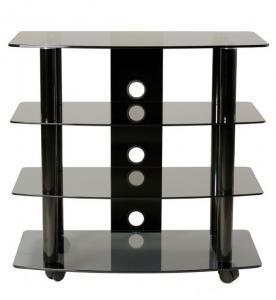 High Boy TV Stand/Cart With 3 Av Shelves
