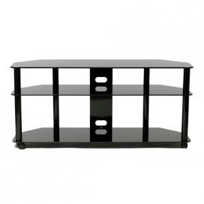 Versatile 60-inch Black TV Stand with Casters