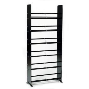 Black Tempered Glass Multimedia Storage Rack