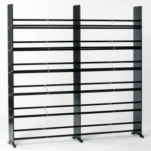 Black Tempered Gl Multimedia Double Storage Rack