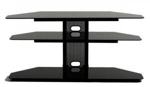 Corner LCD TV Stand With 2 Av Component Shelves
