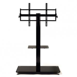 LED/LCD TV mounting system with wheels for up to 65-inch TV