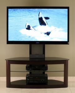 Flat Panel TV Universal Mounting System (Espresso Or Oak)