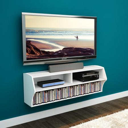 White Altus Wall Mounted Audio/Video Console