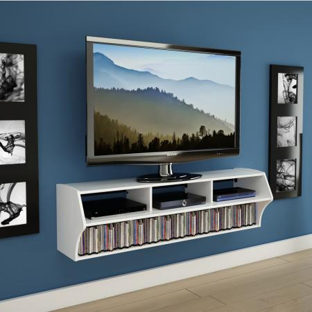 White Altus Plus Wall Mounted Audio/Video Console