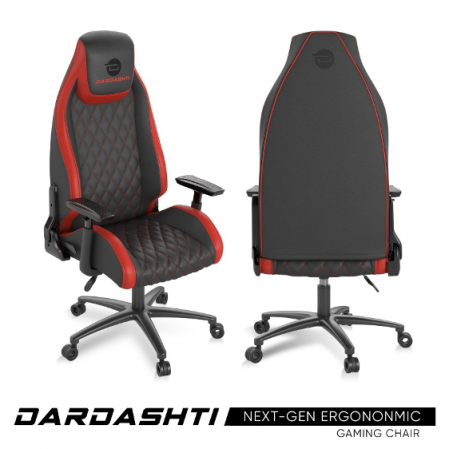 Atlantic Dardashti Gaming Chair - Commercial Grade, Ergonomic, Ruby Red
